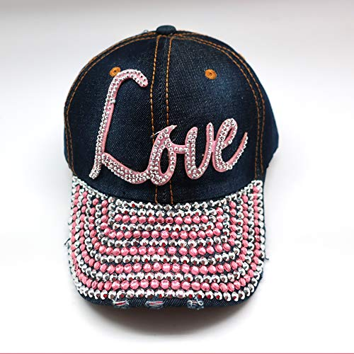 Bling Baseball Cap Hat - Embellished w/Crystal Rhinestones and Faux Gemstones - Bling Hat