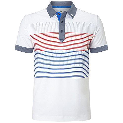 Callaway Golf 2018メンズopti-dri X範囲Fine Lineストレッチポロシャツ