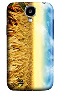 CaseandHome Golden Wheat Fields PC Material Hard Case For Samsung Galaxy S 4