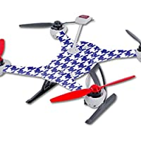 Skin For Blade 350 QX3 Drone – Blue Houndstooth | MightySkins Protective, Durable, and Unique Vinyl Decal wrap cover | Easy To Apply, Remove, and Change Styles | Made in the USA