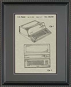 Apple Computer Patent Art Wall Hanging | Computer Programmer Framed Gift 11x14
