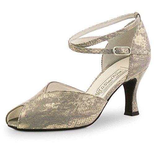 Werner Kern Femmes Chaussures de Danse Asta 6,5 - Suéde Shark Antique - 6,5 cm