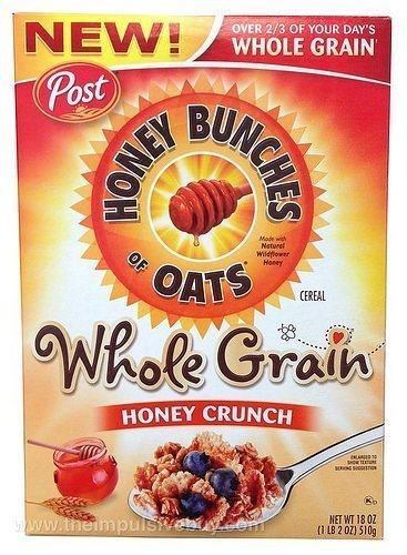Honey Bunches of Oats Whole Grain Honey Crunch (whole grain honey nut, 2 boxes)