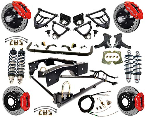 - NEW RIDETECH COILOVER & 4-LINK SYSTEM WITH WILWOOD DISC BRAKES,CONTROL ARMS,SPINDLES,FRONT SWAY BAR,13