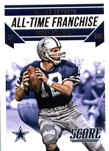 2015 Panini Score All-Time Franchise #8 Roger Staubach Cowboys NFL Football Card NM-MT