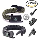 SIGMA - Survival Gear Paracord Bracelet - 2 PACK - Survival Outdoor Bracelet