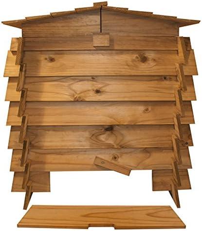 En bois /à double charni/ère Poubelle /à compost d/échets de jardin composteur en bois Compost Poubelles