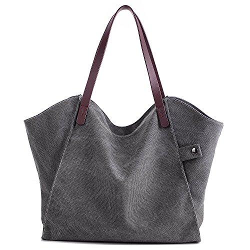 Mayma Women's Canvas Shoulder Bag Top Ha - Canvas Top Zip Shoulder Bag Shopping Results