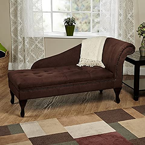 TMS Traditional Chaise Lounge - This Indoor Furniture Is Ideal for Your Home, Living Room or Bedroom - With Comfortable Tufted Cover Cushions - A Flawless Piece of (Indoor Chaise Chair Cover)