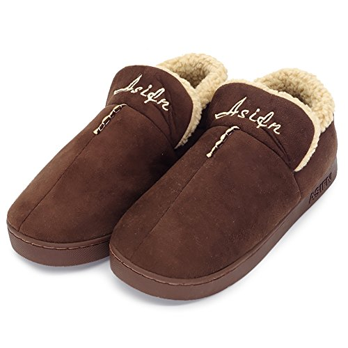 Shoes for Brown Slip Home Cotton Anti Indoor Bedroom Booties Plush Winter House Gift Slippers Men Office UIZqCP