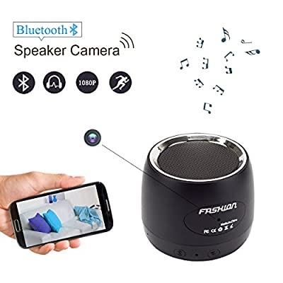 HongSheng 1080P Bluetooth Speaker Wireless Wifi Hidden Camera Motion Detection/Real-Time View/Loop Recording/Music Player, Spy Nanny Cam For Home Security,Capacity Up To 128 by HongSheng