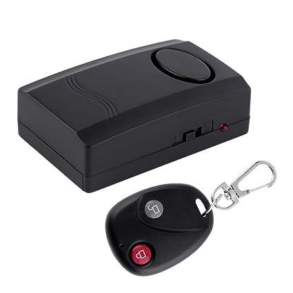 Mengshen inalámbrico de control remoto de vibración de alarma de seguridad de la casa de la puerta de la ventana de coches de motocicleta Anti-Robo de ...