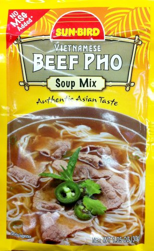 SUNBIRD MIX SOUP BEEF PHO, 1.05 OZ