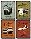 Laundry Set - mini Mini Prints, Vintage, Signs Art Print Poster by N Harbick, 8 x 10