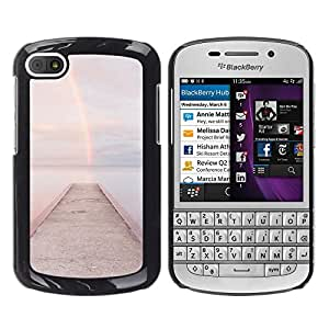 For BlackBerry Q10 Case , Beach Dock Jetty Water - Diseño Patrón Teléfono Caso Cubierta Case Bumper Duro Protección Case Cover Funda