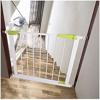 WHAIYAO Bebé Puerta De La Escalera Barrera Valla De Seguridad for Niños Puerta De Aislamiento Del Bebé Seguridad De La Protección Montaje En Pared Aplicaciones De Escalera Decoración Del Hogar, Ajusta: Amazon.es: