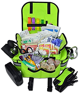 Tactical First Aid Kit: Lightning X Small First Responder EMT EMS Trauma Bag Stocked First Aid Fill Kit B by Lightning X Products
