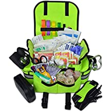 Lightning X Small First Responder EMT EMS Trauma Bag Stocked First Aid Fill Kit B (Fluorescent Yellow)