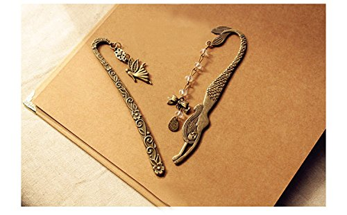 VNDEFUL 2PCS The New Vintage Fairy And Mermaid Label -Style Beaded Bookmark Wholesale Female - Fairy Bookmark