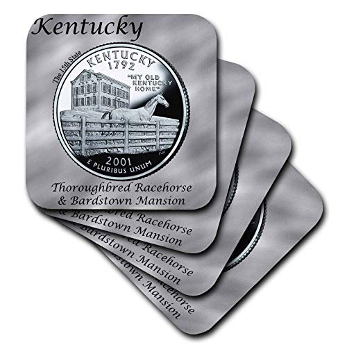 ography Coins - State Quarter Kentucky - set of 8 Coasters - Soft (cst_120129_2) ()
