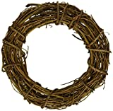 Darice Bulk Buy DIY Crafts Grapevine Wreath Natural 8 inches (6-Pack) GPV8