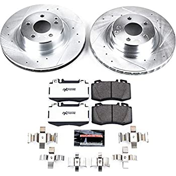 Cross Drilled Front Rotors /& Brake Pads 00-02 Mercedes S430 S500 00-03 CL500 2