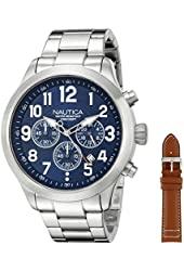 Nautica Men's NAD18509G NCC 01 Chrono Analog Display Quartz Blue Watch