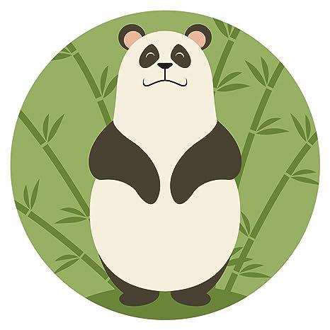 Pegatina de pared Guardería Asia Oso panda con bambú Asia ...