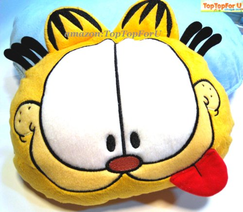 Microfibre Seat (Authentic Garfield Plush Auto Car Neck Pillow Seat Cushion 1pc)