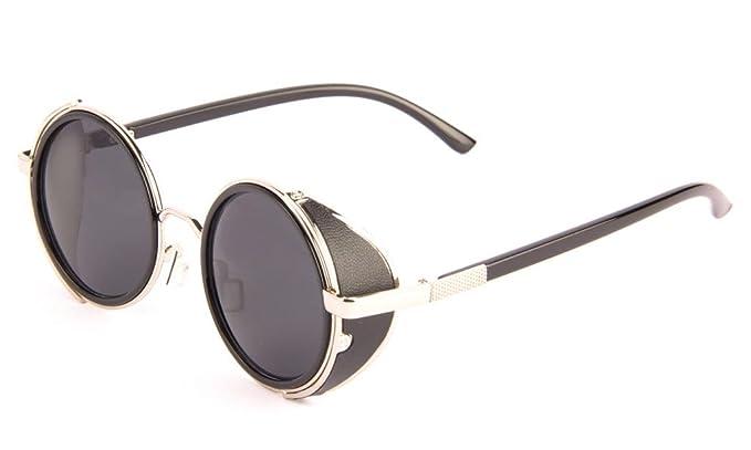 Carlo Capellini Steampunk gafas de sol 50S Cyber redondo de ...