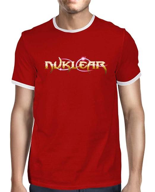 latostadora - Camiseta Retro Chico - Logo para Hombre Rojo M