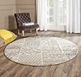 Safavieh Tunisia Collection TUN1311-KMK Ivory Round Area Rug, 6 feet in Diameter (6′ Diameter)