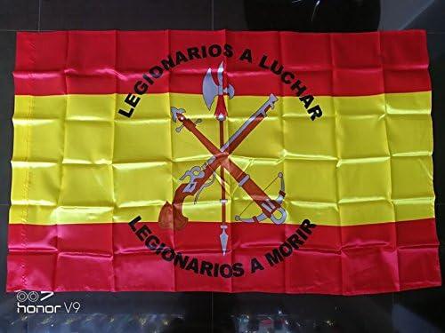 Gran Bandera de Legion de España150 x 90 cm Satén Durabol: Amazon.es: Hogar