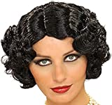 Forum Flapper Wig, Black, One Size