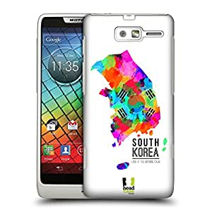 Head Case Designs Land of the Morning Calm South Korea Watercoloured Maps Hard Back Case Cover for Motorola RAZR i XT890