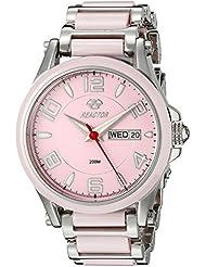 REACTOR Womens 69013 Crystal Analog Display Quartz Two Tone Watch