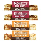 Earth Animal No Hide Raw Hide Dog Chews, Dog Treats 4 inch 4 Pack, (2) Beef, (2) Chicken. The Safe Alternative to Raw Hide