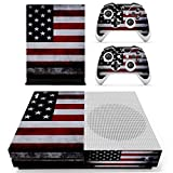 Cheap UUShop Protective Vinyl Skin Stickers for Microsoft Xbox One S with Two Free Wireless Controller Decals USA Flag US