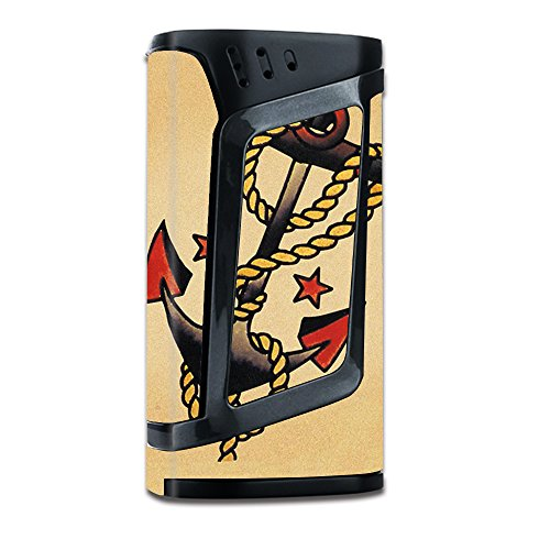 220 Art - Skin Decal Vinyl Wrap for Smok Alien 220w TC Vape Mod stickers skins cover / Tattoo Anchor, Traditional Art