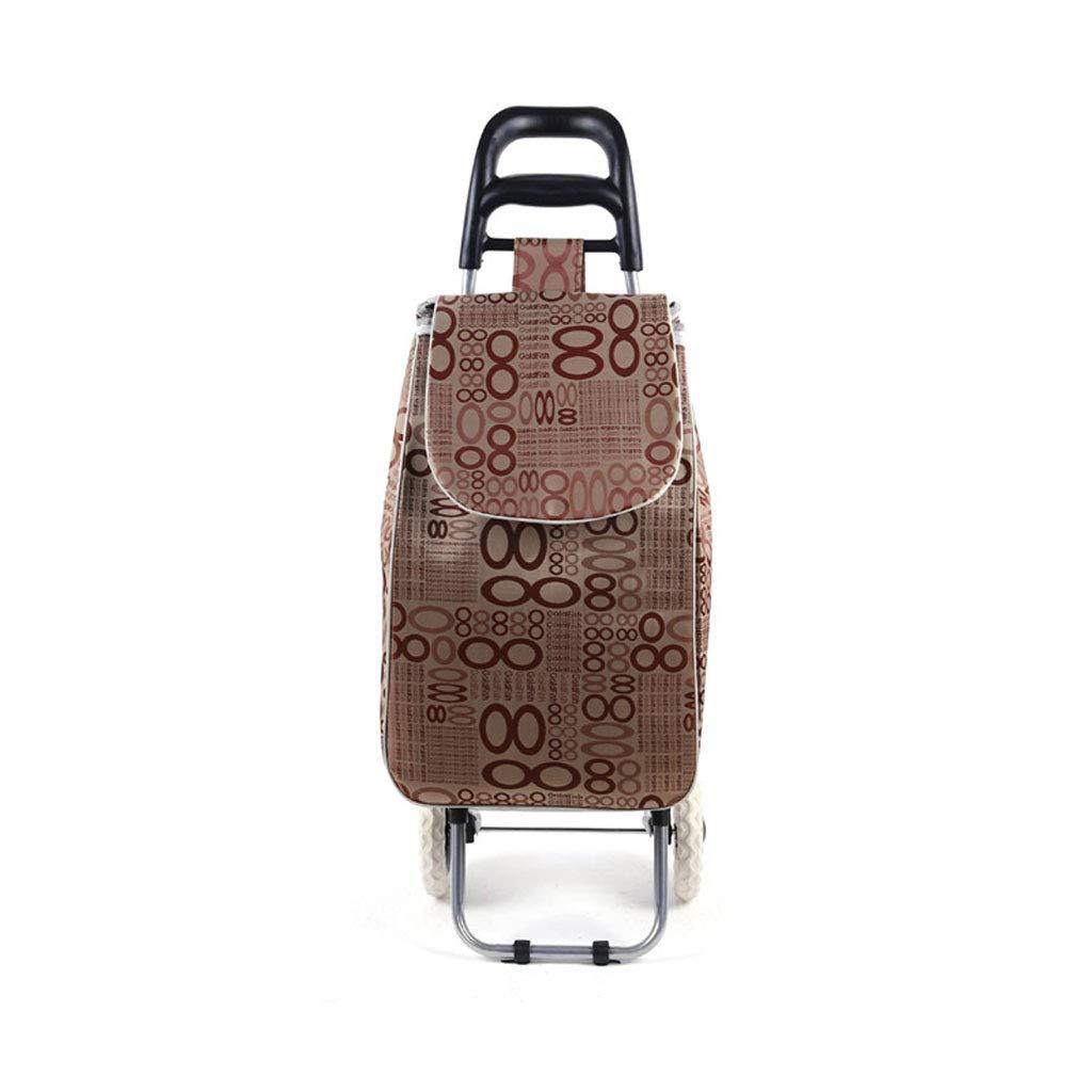 ショッピングカートショッピングトロリーショッピングバッグ食料品の折り畳み式カート荷物カート軽量トロリー市場ショッピングカート B07KFCL61K