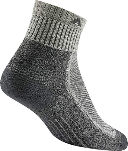 Wigwam Cool-Lite Hiker Quarter F6066 Sock, Grey/Charcoal - X-Large