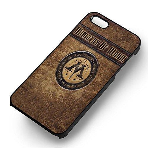 Ministry Of Magic Harry Potter pour Coque Iphone 6 et Coque Iphone 6s Case (Noir Boîtier en plastique dur) V8H1UF