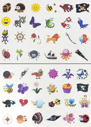Tattoo Set 96 Kindertattoos Tattoo verschiedene Motive Kinder Spielen