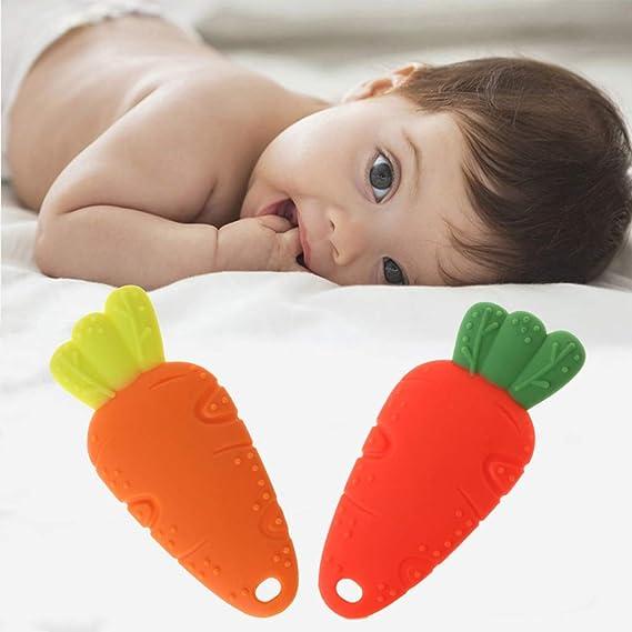 Kalttoy Baby mordedor anillo recién nacido dientes alivia dolor Cartoon collar DIY masajeador juguete (rosa): Amazon.es: Bebé