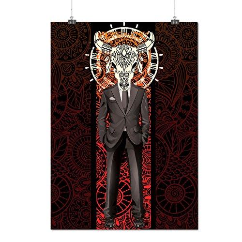 [Skull Costume Beast Body Horror Matte/Glossy Poster A3 (12x17 inches) | Wellcoda] (Purge Costume Uk)