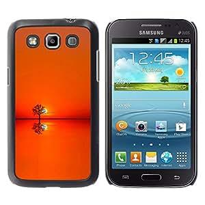 TopCaseStore / la caja del caucho duro de la cubierta de protección de la piel - Sunset Orange Tree Horizon - Samsung Galaxy Win I8550 I8552 Grand Quattro