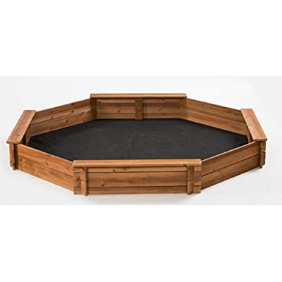 CreativeCedarDesigns 6.6' Octagon Sandbox, Kids Sandbox: Toys & Games