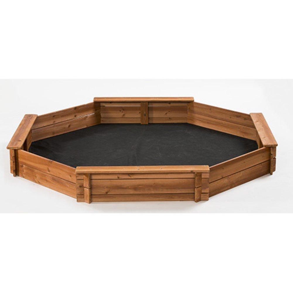 6.6' Octagon Sandbox, Kids Sandbox by CreativeCedarDesigns