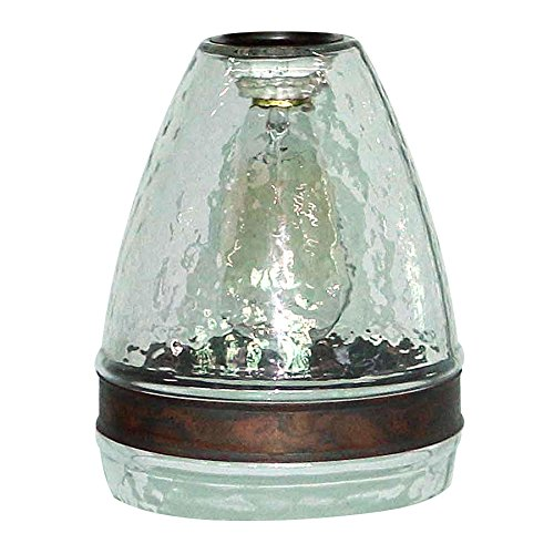 Portfolio 7.5-in H 6-in W Clear Textured Glass Bell Pendant Light Shade
