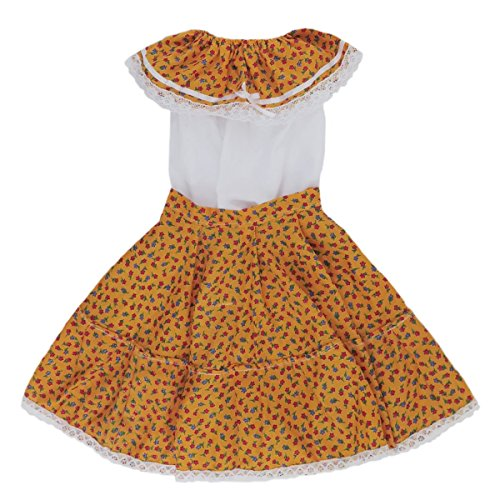 Embroidered Poplin Skirt - Mexican Clothing Co Little Girls Mexican Adelita Costume Blouse n Skirt Poplin 2T Yellow 7207